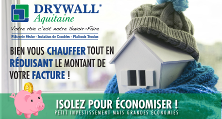 isolation RGE-drywall aquitaine-salles