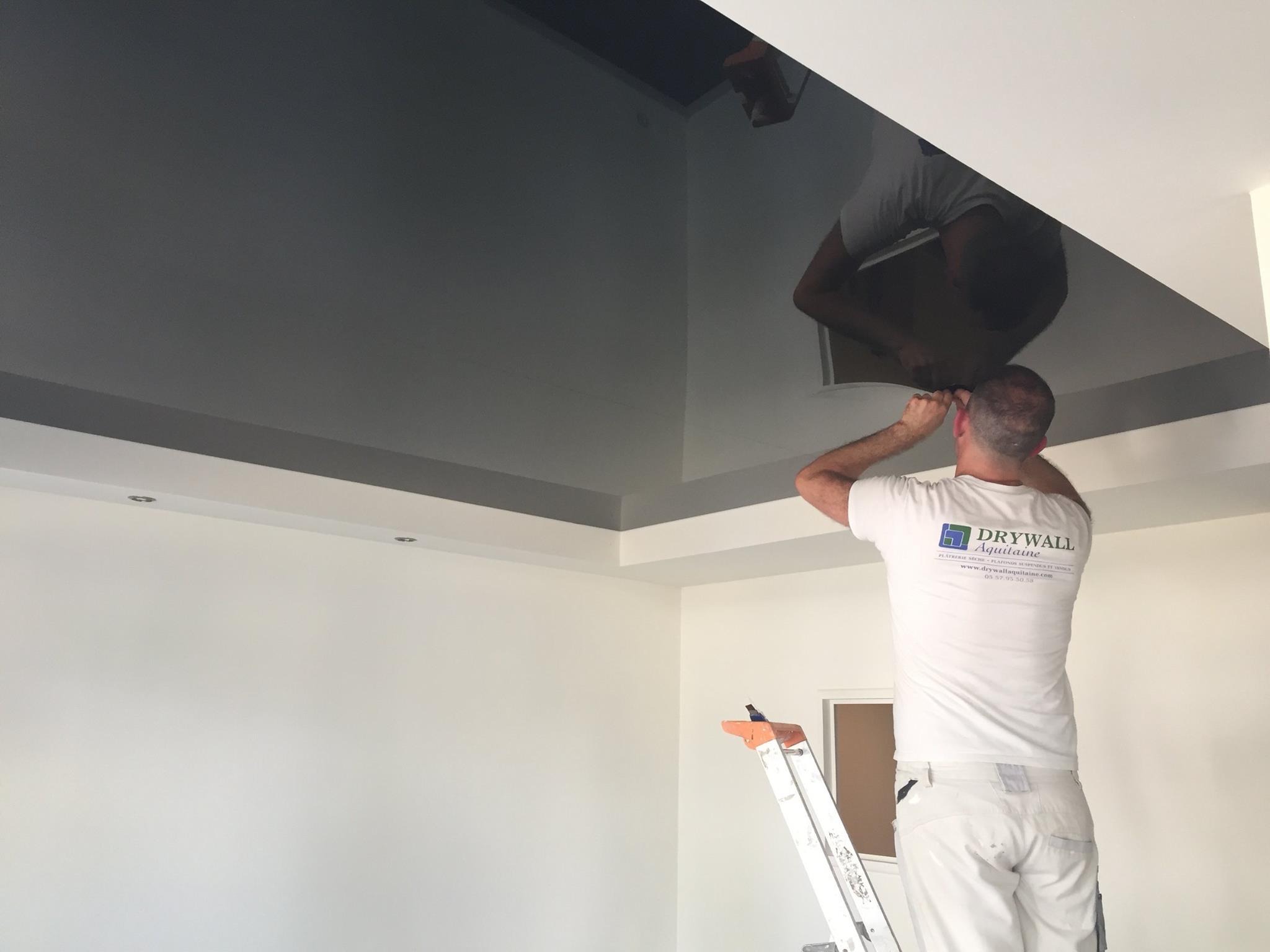 Métiers plafonds tendus Drywall Aquitaine