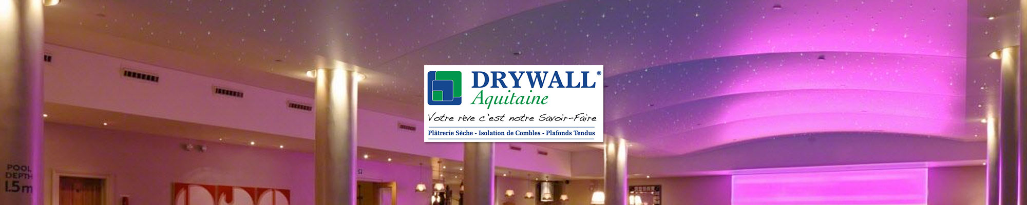 plafonds tendus drywall aquitaine